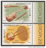 "AZERBAIGIAN // AZERBAIJAN – EUROPA - CEPT 2014 TEMA ANNUALE ""STRUMENTI MUSICALI"" -SERIE 2 - Francobolli - Europa-CEPT"