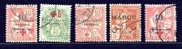Maroc Ob N° 55 - 59 - 60 - 61 - 62 - Croix - Rouge - Morocco (1891-1956)