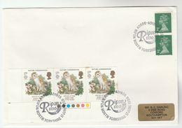 1986 GB OWL Stamps  COVER EVENT Pmk RIPON 100 Bird Birds Owls - Owls