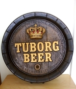 Vintage Tuborg Beer Barrel Advertising Sign - Insegne