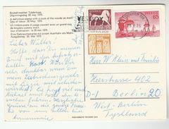1975 SWEDEN COVER Card SAILING YACHT SPORT Etc Stamps Bird - Sweden