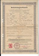 SCHÄTZUNGSURKUNDE Deutsche Automobil Treuhand Frankfurt A.m. 1943 ( Certificat D'évaluation  - Adler ) - Alte Papiere