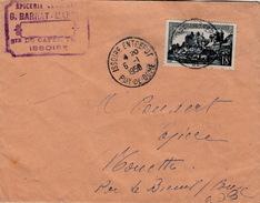 FRANCE LETTRE 1954  - N° 1040 UZERCHE  SEUL SUR LETTRE