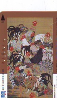 Télécarte JAPON * ZODIAQUE * Oiseau * COQ * Poule  HAHN (445) ROOSTER Bird Japan Phonecard Telefonkarte STERNZEIGEN HAAN - Zodiaco