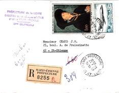 FRANCE LETTRE 1969  - RECOMMANDEE - ROGER VAN DER WEYDEN- ROGIER DE LA PASTURE - Covers & Documents