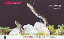 Télécarte JAPON * ZODIAQUE * SERPENT (450)  SNAKE * SCHLANGE * HOROSCOPE * PHONECARD JAPAN * TELEFONKARTE STERNZEICHEN - Zodiac