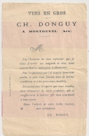 MONTREVEL Ain VINS EN GROS CH DONGUY Sur 1C SAGE. - 1877-1920: Periodo Semi Moderno