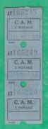 Titre De Transport  - AY 165248 - C.A.M 1 Voyage - Bus