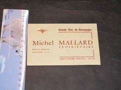 LADOIX SERRIGNY COTE D'OR - GRANDS VINS DE BOURGOGNE MICHEL MAILLARD - Visiting Cards