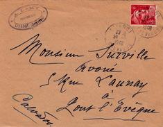 FRANCE 1948 LETTRE LIVAROT POUR PONT L'EVEQUE- A. LAMY HUISSIER CONSTATATION D'ADULTÈRE.. - France