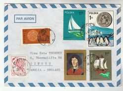 1965 Air Mail POLAND COVER Stamps NICOLAUS COPERNICUS , SAILING SHIP, PENGUIN  Etc Birds  Bird - 1944-.... Republic
