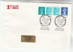 1985 GB Stamps COVER EVENT Pmk Illus BIRD OF PREY, ULTRAMAR 50th ANNIV - Eagles & Birds Of Prey
