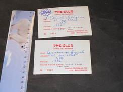 THE CLUB AV STALINGRAD BRUXELLES - 2 CARTES DE MEMBRE 1977 DE DEMOL ANTOINE ET GOEMAUX ANGELE DE JETTE - Vieux Papiers