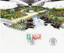 1992 - Encart Des Floralies Internationales De Bordeaux Les 17 Et 18 Avril - Marcophilie (Lettres)