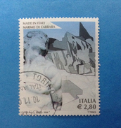 2006 ITALIA FRANCOBOLLO USATO STAMP USED - MADE IN ITALY MARMO DI CARRARA - - 6. 1946-.. Repubblica