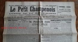 Journal Ancien - LE PETIT CHAMPENOIS - 26 Mai 1923- Chroniques Régionales & Locales De Haute Marne - Journaux - Quotidiens