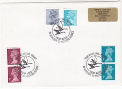 1988 'Swan Lake Arundel' GB COVER EVENT Pmk SWANS WILDLIFE TRUST Illus BIRD Birds