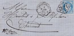 FRANCE :  Convoyeur Station Remiremont   8 R. EP   Sur LaC  Affranchie  Au Cérès 60   GC 1402 Epinal Du 08 03 1875 - Marcophilie (Lettres)