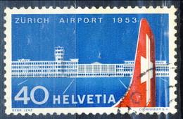 Svizzera 1953 N. 536 C. 40 Inaugurazione Aeroporto Di Zurigo Usato Cat. € 13 - Usados