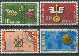 Svizzera 1954 Serie  N. 544-547 Usati Cat. € 10 - Usados