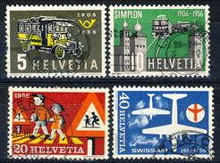 Svizzera 1956 Serie N. 572-575 Usati Cat. € 4 - Usados