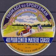 FRANCE : ## Fromage Du Sportsman – Fabriqué En Normandie ##  F.L.S.A. - 14170 St. PIERRE Sur DIVES: AUTO,CAR,AUTO - Kaas