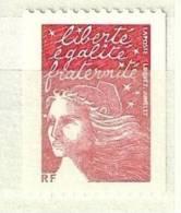 2001 Marianne Du 14 Juillet Rouge écrit Avec Moins Lh RF Y&T 3418b - 1997-04 Marianne Of July 14th