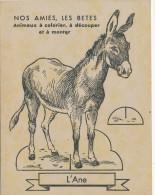 Ancien Découpage Et Coloriage à Monter Nos Amis Les Bêtes L'Âne Sur Carton - Werbung