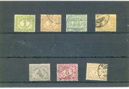 1912 INDES NEERLANDAISES Y& T N° 98 100 101 102 103 104 105 ( O ) Les 7 Timbres - Niederländisch-Indien