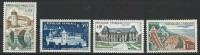 "Yt 1330 1333 1351 1355 "" Villes Et Sites "" 1962 Neuf** - France"