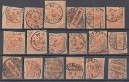DR Lot 18 Briefstücke Der Minr.49 Gute Stempel Ansehen !!!!!!!!!!!!!! - Briefmarken
