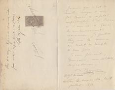 FRANCE :1891: Reçu De 25.000 Francs Avec Timbre Fiscal, Signé à Lille Le 21 Juillet 1891. - France