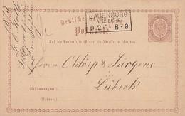 DR Ganzsache R3 Lauenburg A.d. Elbe 9.2.75 - Briefe U. Dokumente