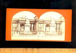 Photo Stereo Photographie 3D Relief : PARIS 7e Le Palais Bourbon Corps Législatif Statue La Loi - Photos Stéréoscopiques