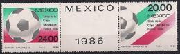 1984 Mexiko  Mi. 1919-20 **MNH  Fußball-Weltmeisterschaft, Mexiko - Mexico