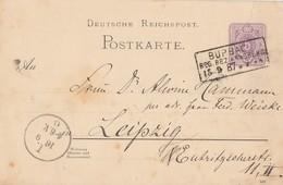 DR Ganzsache R3 Burbach Reg. Bez. Arnsberg 15.9.87 - Briefe U. Dokumente