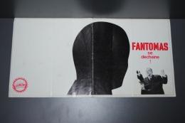 Affichette Du Film FANTOMAS Se Déchaine Avec Louis DE FUNES, Mylène DEMONGEOT Et Jean MARAIS - Posters