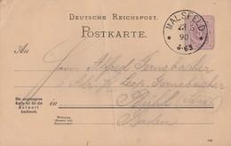 DR Ganzsache K1 Malsfeld 23.5.90 - Deutschland