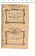 2 Scans / Bon-Billet De Théatre En 1901 Concerts Colonne Nouveau-Théatre Et Nouveau Cirque Rue St-Honoré  /  VP 204/1 - Old Paper