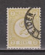 NVPH Nederland Netherlands Pays Bas Niederlande Holanda 32 CANCEL LEIDEN ; Cijfer, Cipher, Cifra, Cifre 1876-1894 - Usati