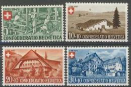 Svizzera Pro Patria 1945 Serie  N. 419-422 MNH Cat. € 25 - Nuovi