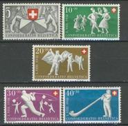 Svizzera Pro Patria 1951 Serie  N. 507-511 MNH Cat. € 27 - Nuovi