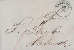 Brief Blauer K2 Sarstedt 30.10. Gelaufen Nach Osterode Blauer K1 - Hannover