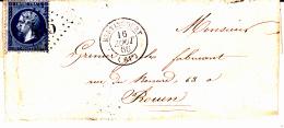 61 PAS De CALAIS - BERTINCOURT - 1866 - 1849-1876: Période Classique