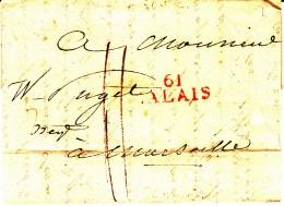61 PAS De CALAIS - CALAIS - 1817 - Marcophilie (Lettres)
