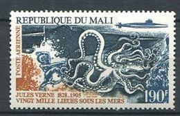185 MALI 1975 - Yvert A 241 - Scaphandrier Pieuvre Jules Verne - Neuf ** (MNH) Sans Trace De Charniere - Malí (1959-...)