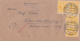 AM-Post Brief Mef Minr.4x 4 Hamburg 18.5.46 Gel. Nach Berlin - Bizone