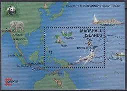 ISLAS MARSHALL 1987 HB-3 USADO - Islas Marshall
