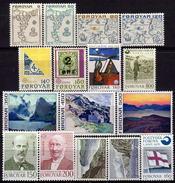 FÄRÖER 1975-1980 Lot 16 Verschiedene Feinst  ** / MNH - Färöer Inseln