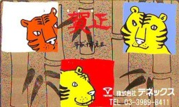 Télécarte  JAPON * ZODIAQUE * TIGRE (662) TIGER * HOROSCOPE * PHONECARD JAPAN * TELEFONKARTE STERNZEICHEN TIJGER - Zodiac